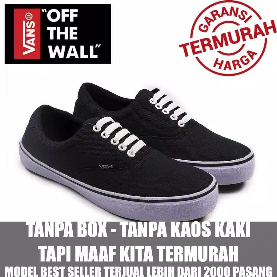 Cuci Gudang Sepatu Sneakers Pria Vans Era Authentic Hitam