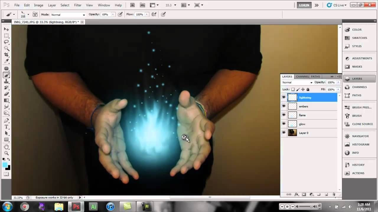 photoshop cs5 light energy ball it shows you step by step how to
