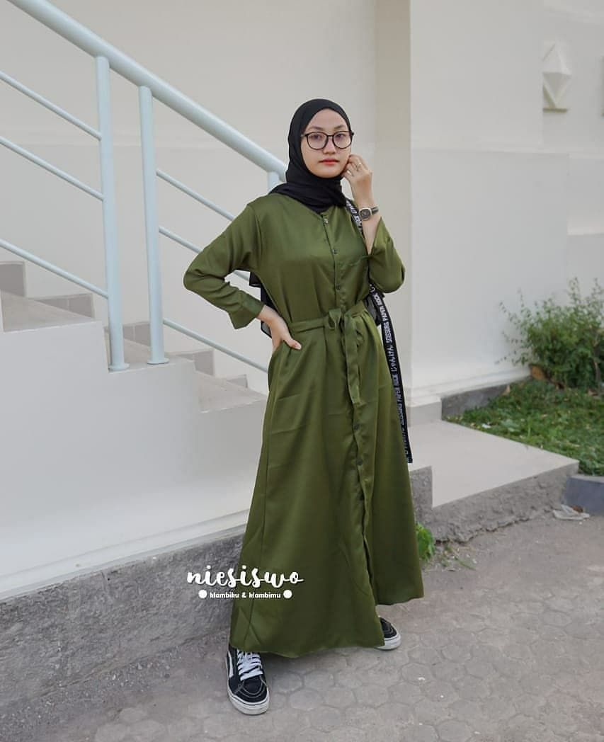 Baju Tunik Warna Army