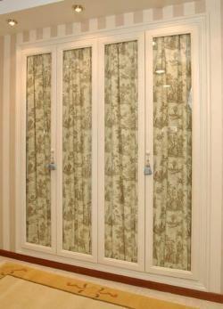 Puertas cristal entero con tela armario pinterest ideas para master bedroom and bedrooms - Armarios con puertas de cristal ...