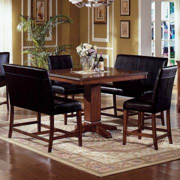 Corner Dining Set Steve Silver Plato 5 Piece Counter Height Nook Dining Counter Height Dining Room Tables Dining Room Furniture Design Casual Dining Room Set
