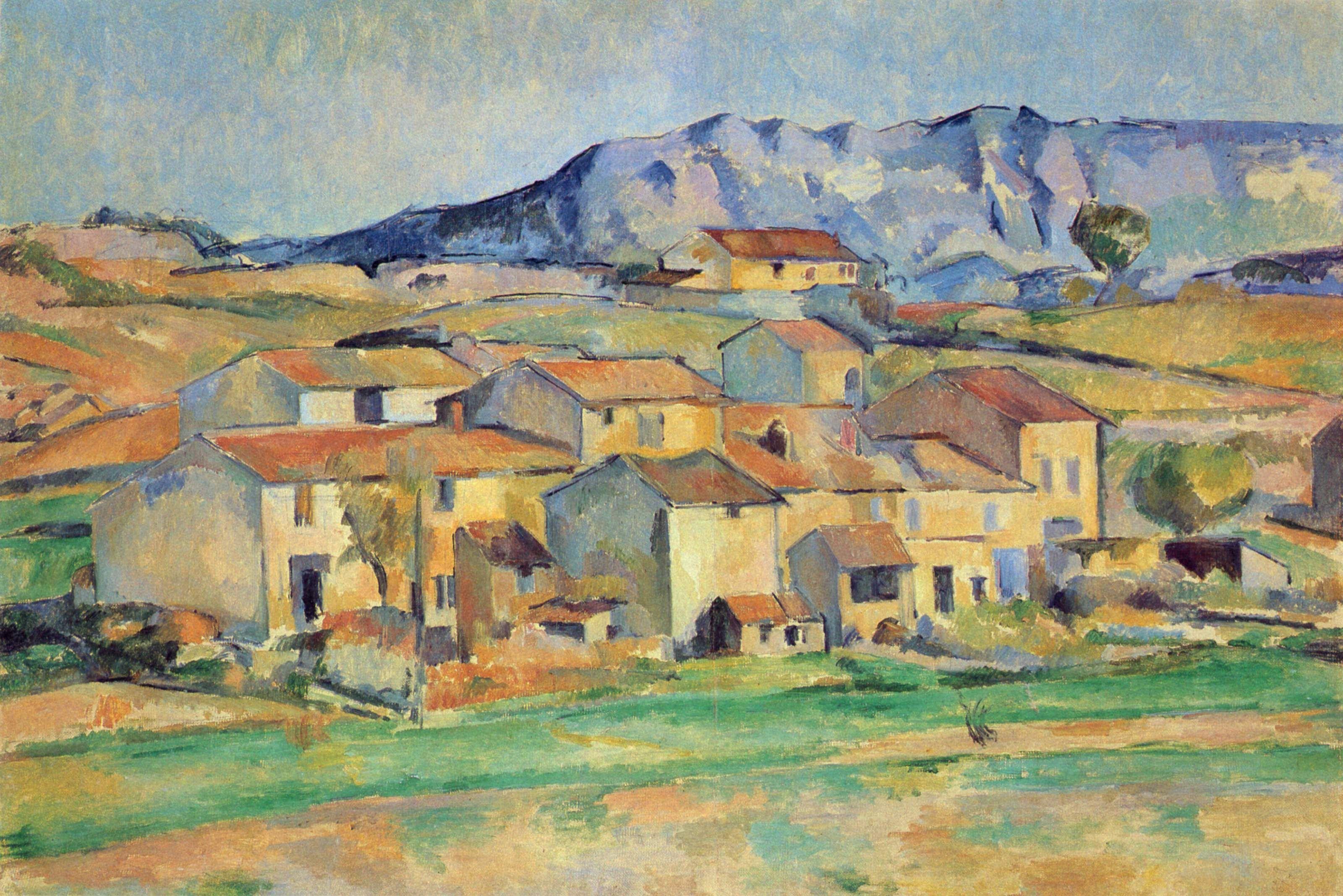 Mont Sainte-Victoire - Paul Cezanne - WikiArt.   Pinturas, Paul ...