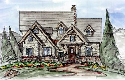 Two-Story Lodge Room - 15802GE | 1st Floor Master Suite, Bonus Room, Butler Walk-in Pantry, CAD Available, Cottage, Jack & Jill Bath, Loft, Mountain, PDF, Vacation | Architectural Designs