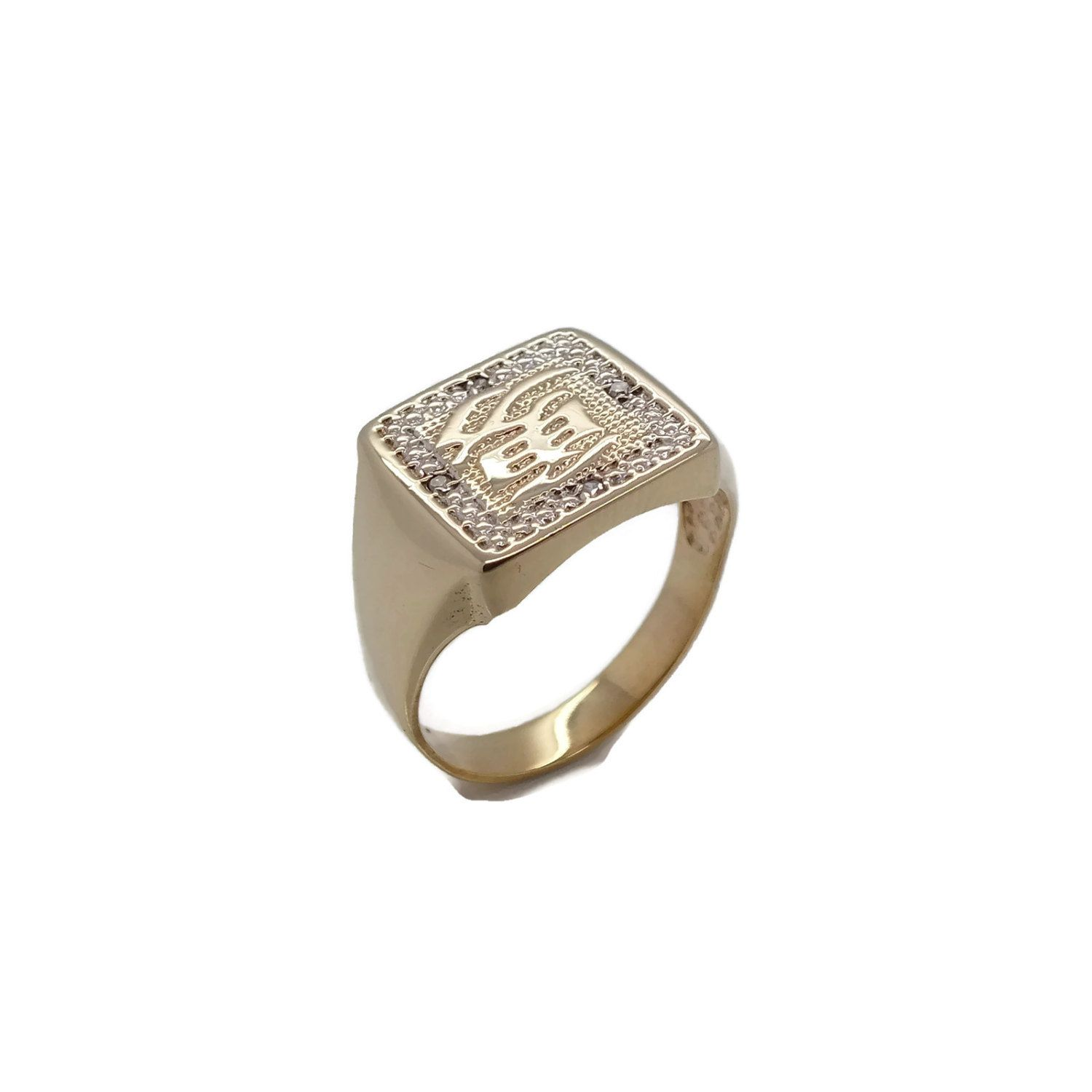 hallmarked fully asp ring mens stunning highly p s jewellery cast stunningfully pyramid polished grams in men for gold