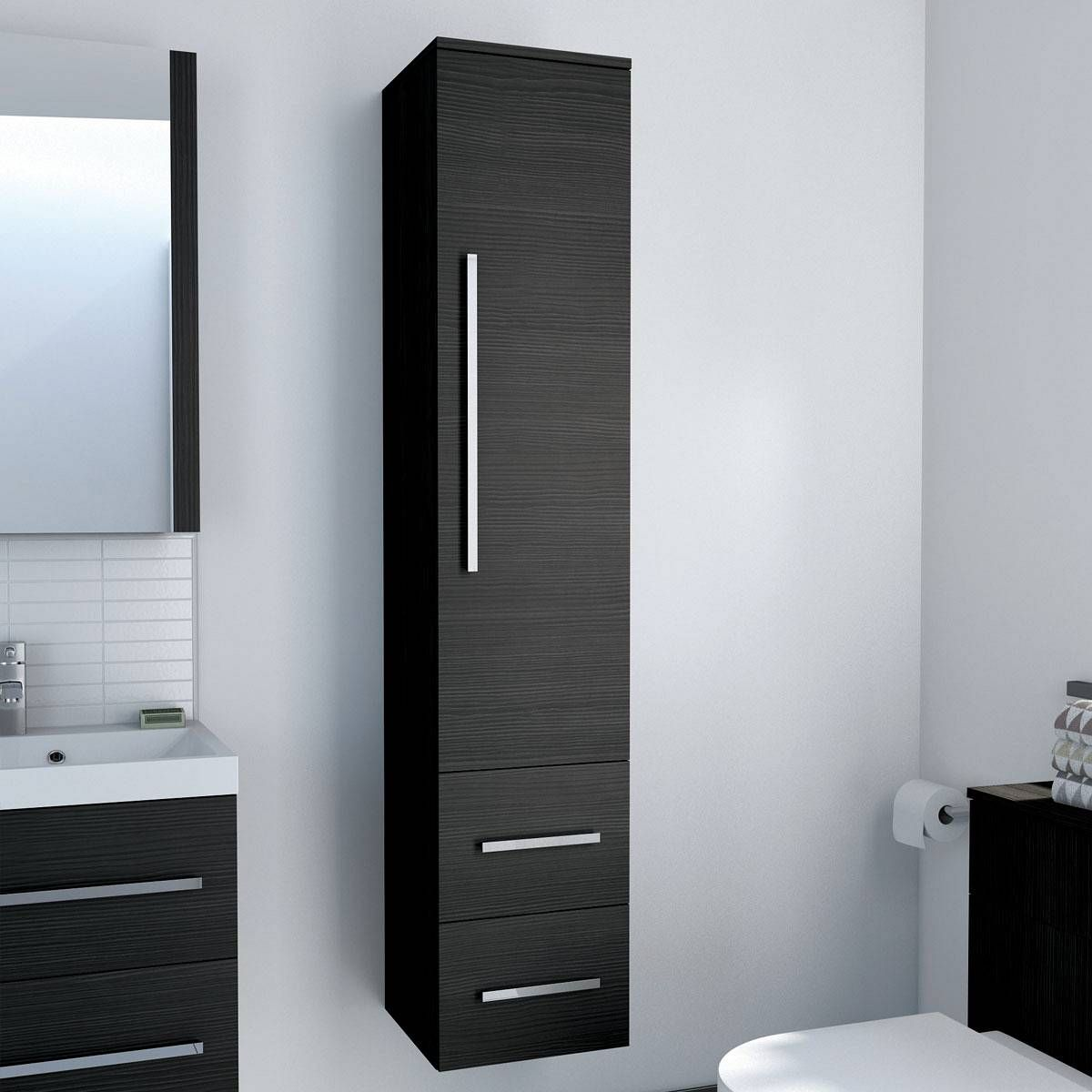 Tall bathroom storage cabinets - Drift Grey Tall Cabinet Now 185 99 Http Www Victoriaplumb