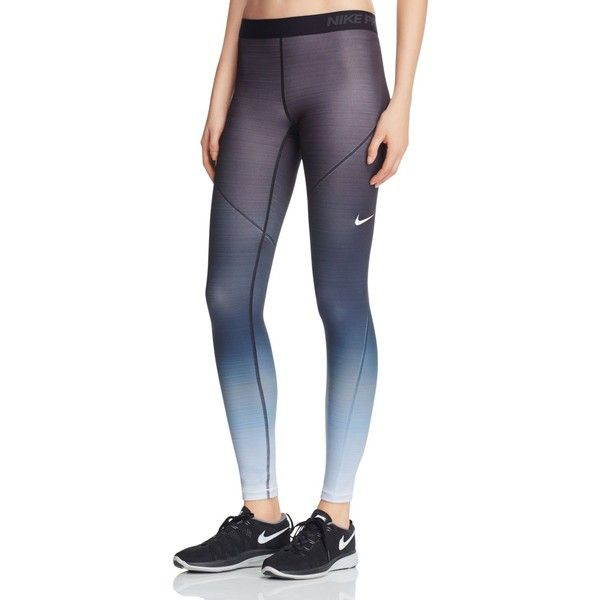 low priced 92c76 1a2fa Nike Pro Hyperwarm Fade Leggings (€65) ❤ liked on Polyvore featuring pants,  leggings, black fade, ombre pants, legging pants, cold weather pants, ...