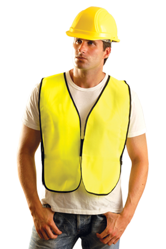 Occulux Economy Safety Vest (Solid) Mens big, tall coats