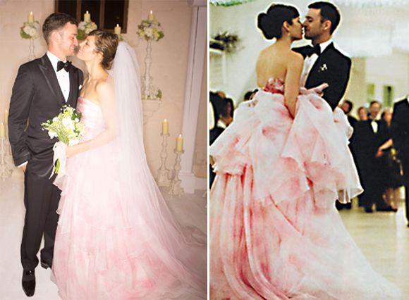 Jessica Biel And Justin Timberlake Celebrity Wedding Dresses Celebrity Wedding Gowns Famous Wedding Dresses