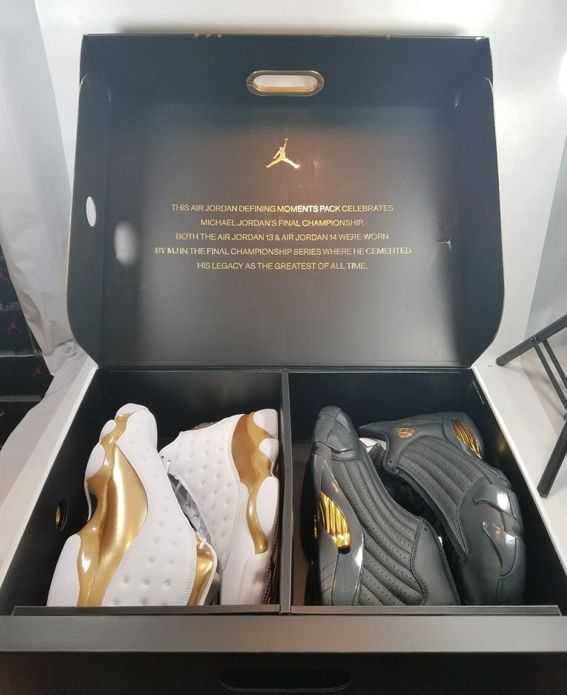 da0b16b7865af Air Jordan DMP Pack Retro 13 XIII 14 XIV Finals Last Shot 897563-900 Sz 8  #AirJordan #Athletic