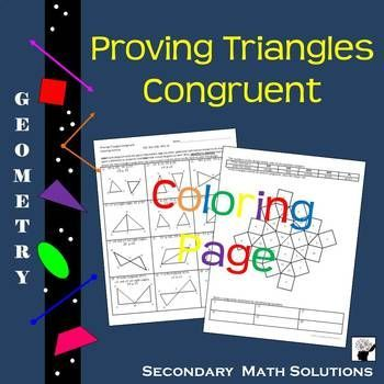 It is an image of Transformative congruent triangles coloring activity