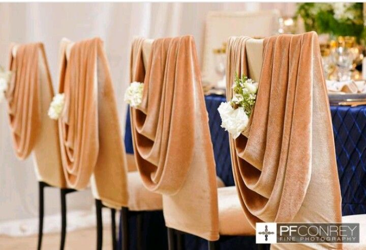 Attirant Wedding Chair Covers Swag With Flower In The Dip Is A Nice Alternative  Classy Elegance
