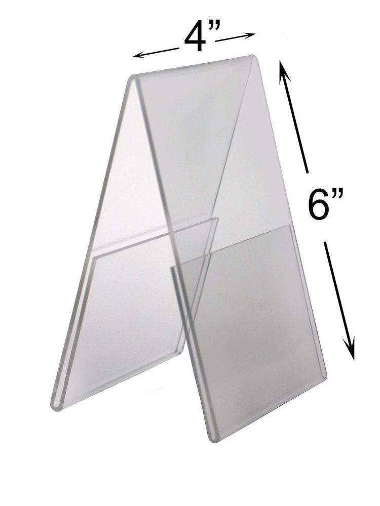 4 X 6 Acrylic Frame Double Sided Table Tentsign Flyer Holder Lot