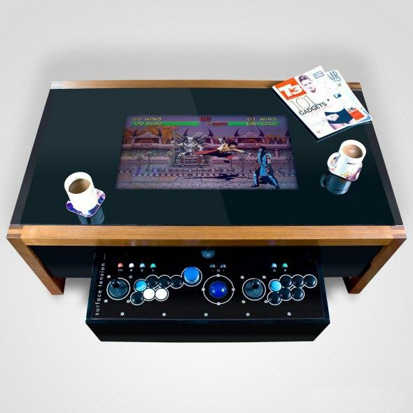 Arcane Arcade Table Play Your Favorite Retro Games In Your Very Own Coffee Table Technowonderful Arcade Table Retro Arcade Arcade