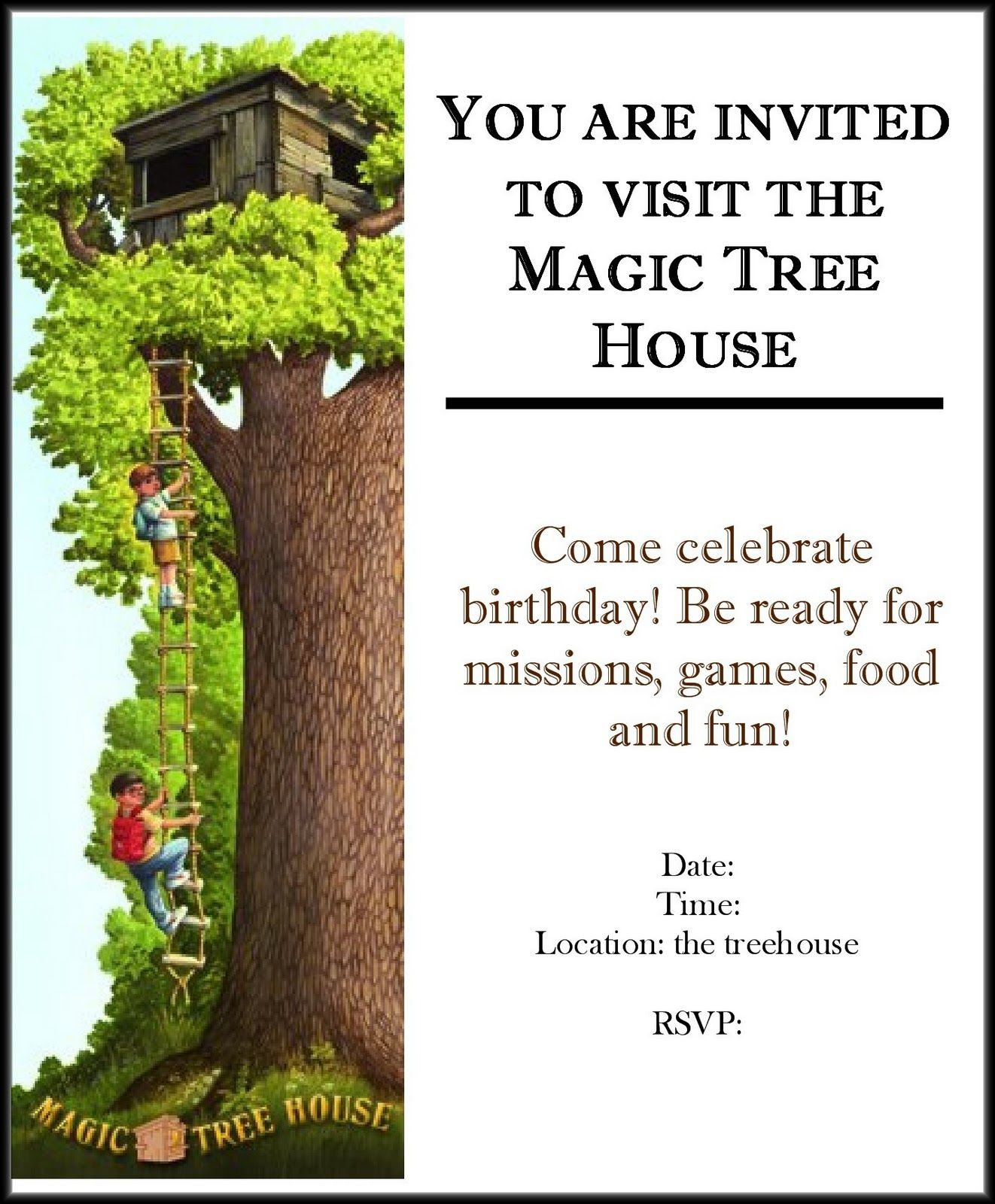 from Chapel Hill to Chickenville: Magic Tree House Birthday Party ...
