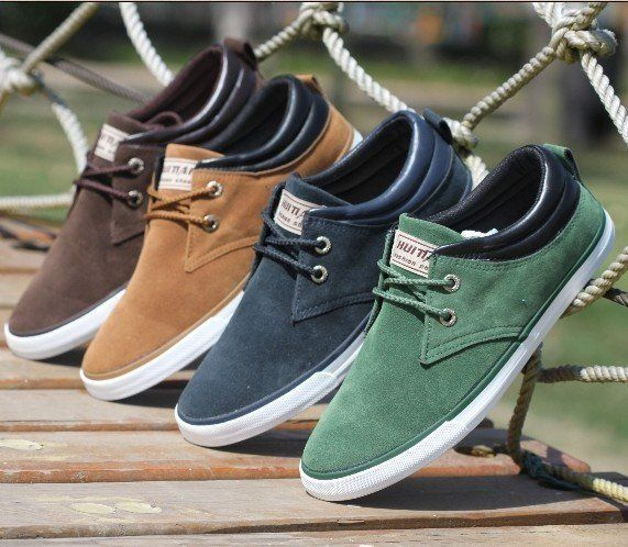 Smart Hottest Lace Up Suede Men Leisure Flats Shoes Outdoor Casual Running Casual Male Shoes Low Top Round Toe Man Footwear Shoes Rich And Magnificent Men's Shoes