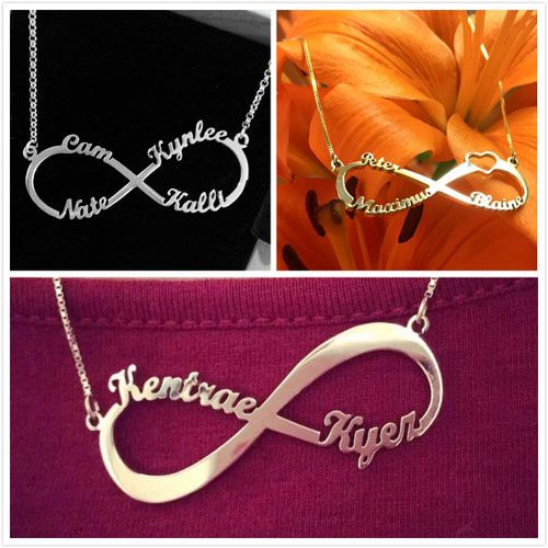 Personalized Infinity Symbol Name Necklace Infinity Symbol