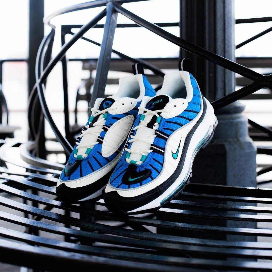 hot sale online 36627 d0b41 Release Date  May 24, 2018 Nike Air Max 98 « Blue Nebula » Credit   JimmyJazz