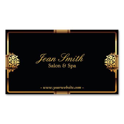 Deluxe gold frame salon spa business card branding pinterest deluxe gold frame salon spa business card colourmoves