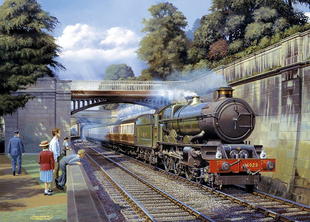 Midland Railway Compound Steam Locomotive Train Blank Birthday Fathers Day Card
