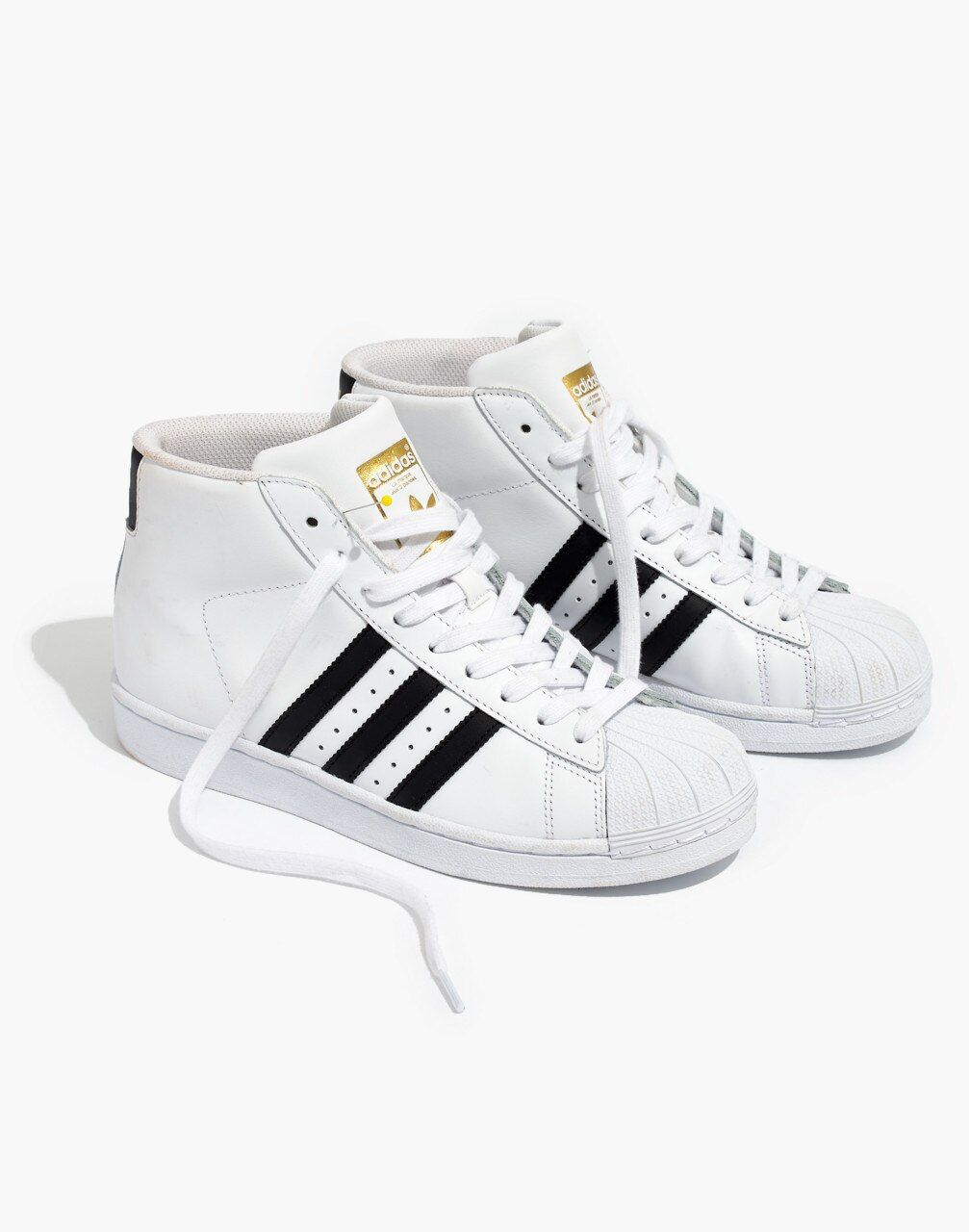 adidas superstar black and white high tops
