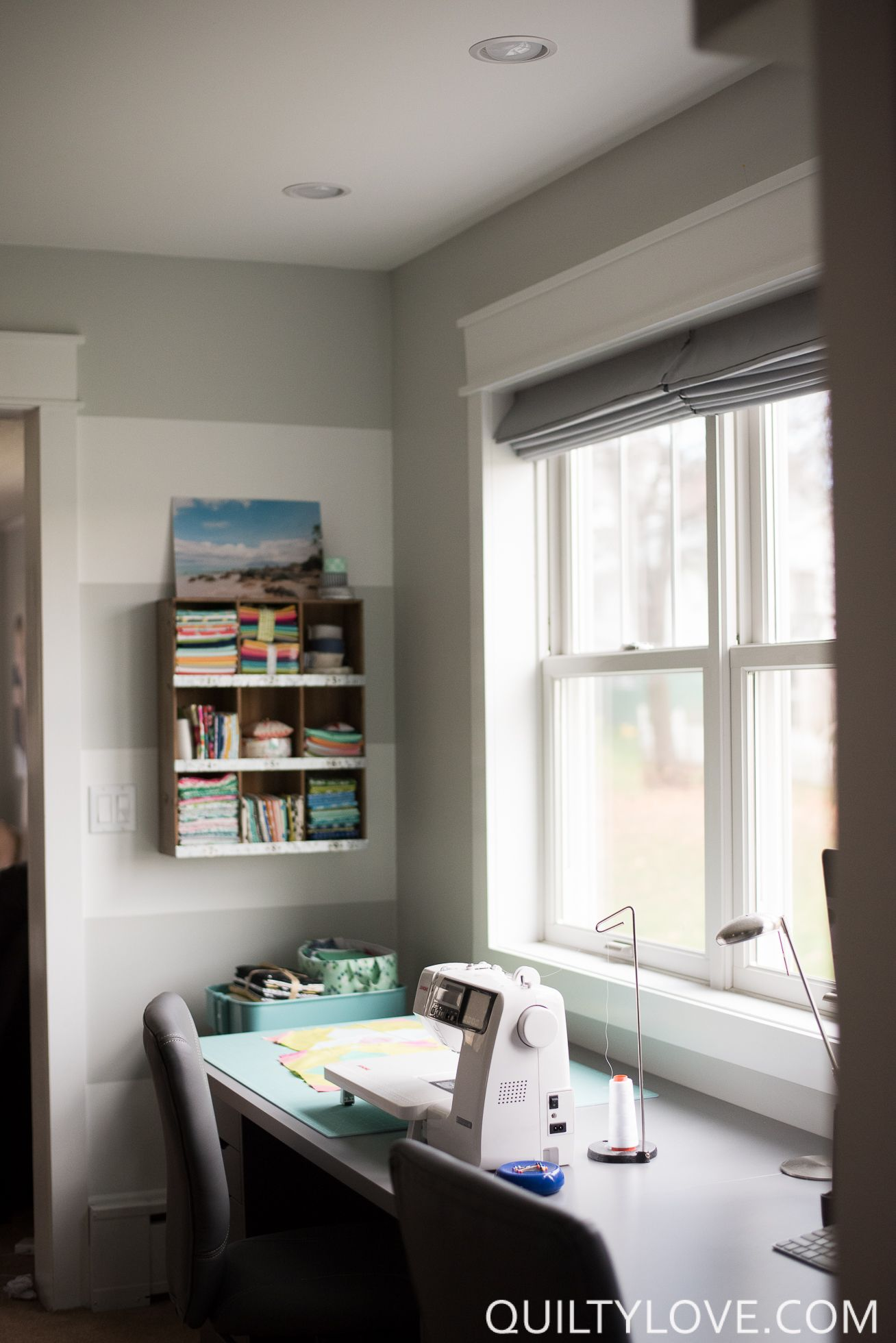 Quilting (and working) in a small space | Small space storage, Small ...