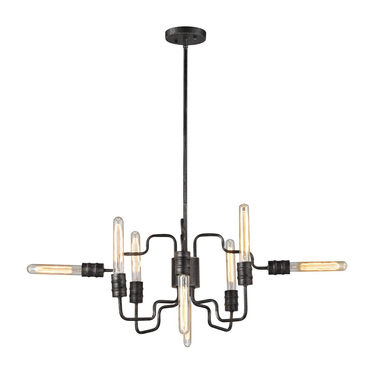 Industrial Angled Tangle Chandelier
