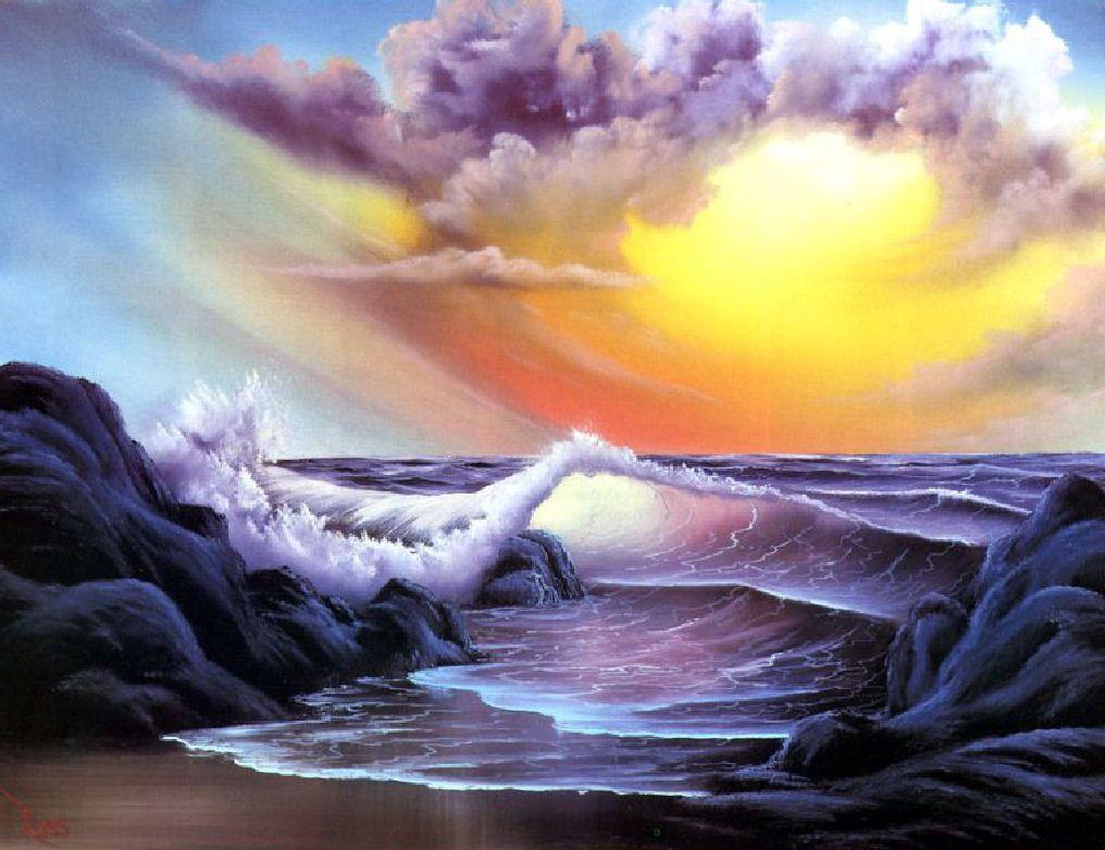 Stormy Seas Bob Ross Art Charming Ocean Views Bob Ross