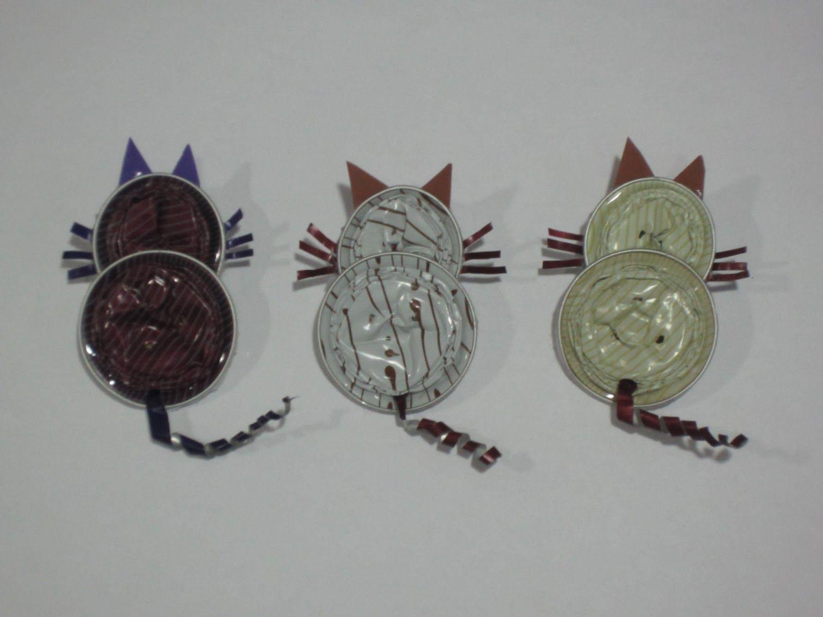 Manualidadesisabel gatos mariposas ranas capsulas nespresso nespre - Nespresso porte capsules ...