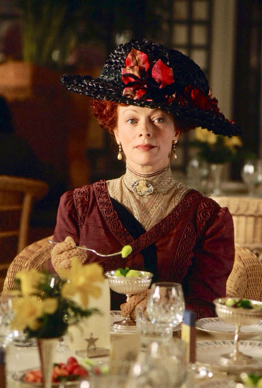"Frances Fisher in ""Titanic""- (1997), The hat is currently ..."