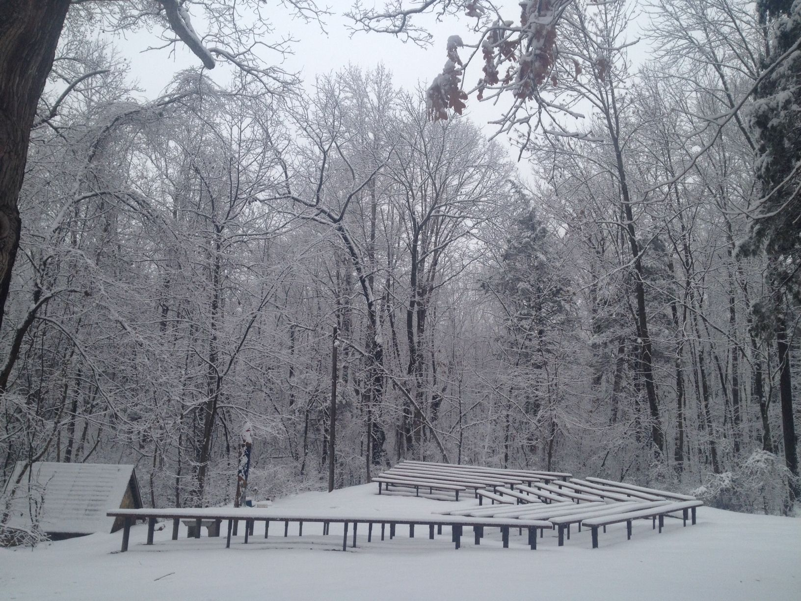 Camp Horizons covered in snow! #snow #camp