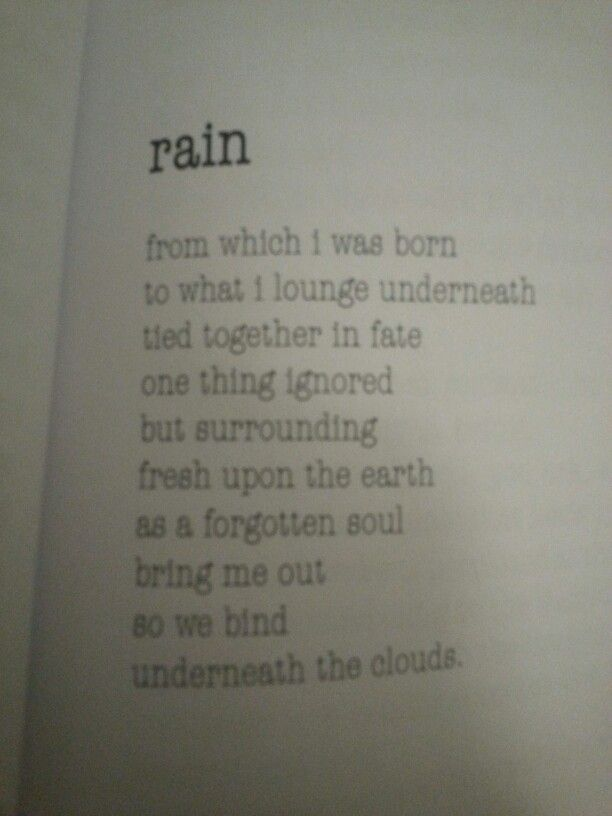 Pin by The Vines Of Letters on Poems | Rain, Poems, Bring ...