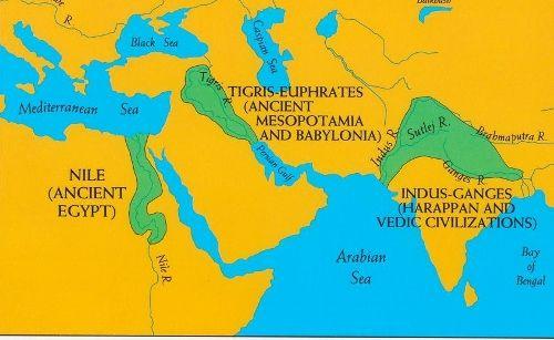 Egypt Mesopotamia And The Indus River Civilizations Complexity - Map of egypt mesopotamia and israel