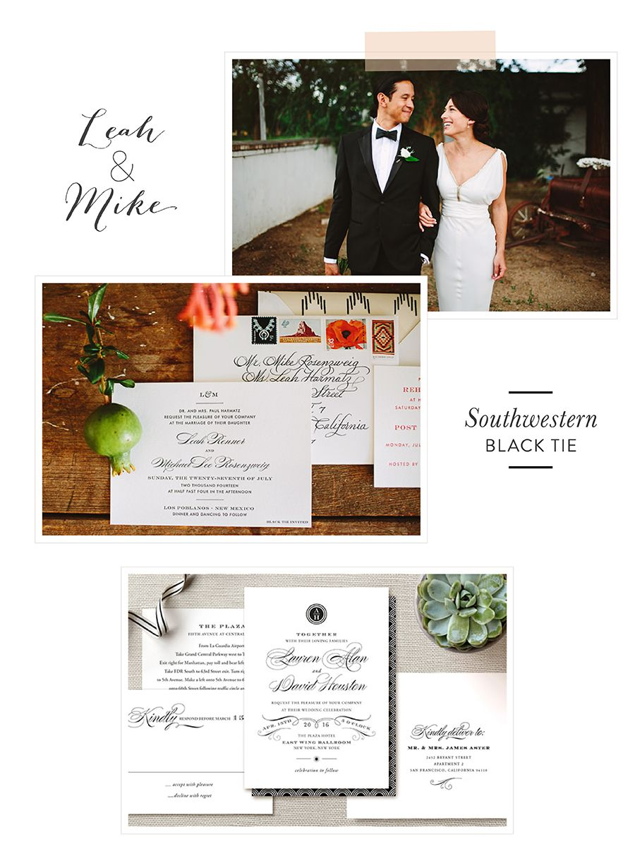 For The More Traditional Couple Discover A Chic Wedding Invitation Design From Minted