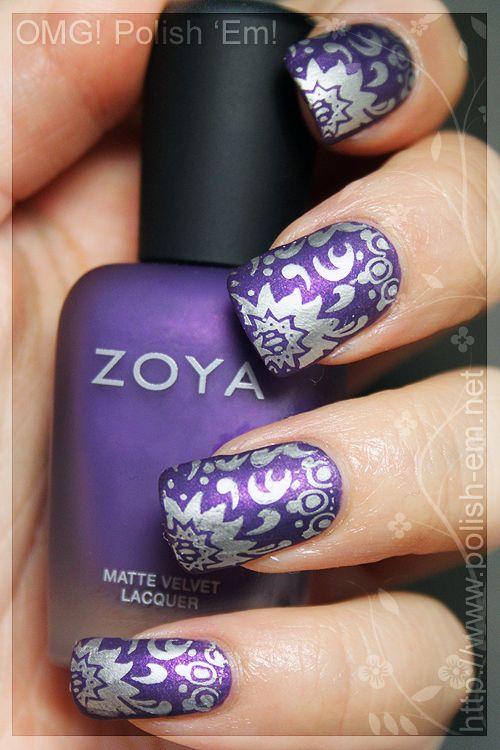 Omg Polish Em Savita Goes Millennium Nails Purple Nails Nail Polish