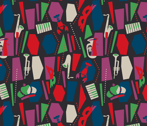laissez les bon temps rouler fabric by acbeilke on Spoonflower - custom fabric