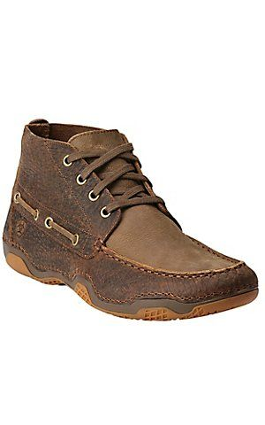 Ariat Mens Brown Boots Holbrook Earth Bomber