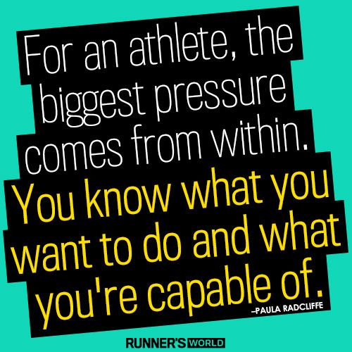 The Biggest Pressure Comes From Within | Runner's World