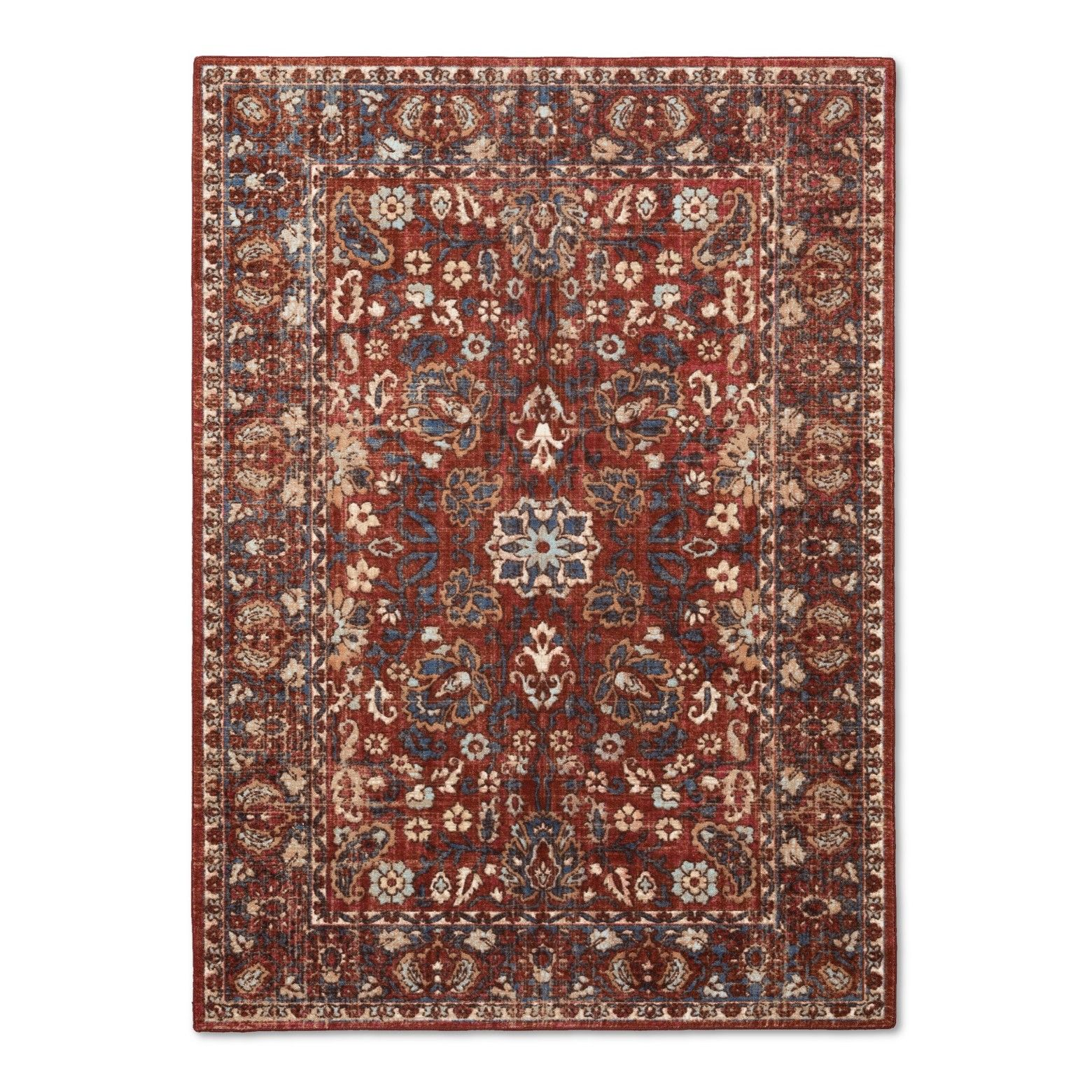 The Intricate Pattern Of Botanicals On Ava Rug From Threshold Is Stunning This Patterned