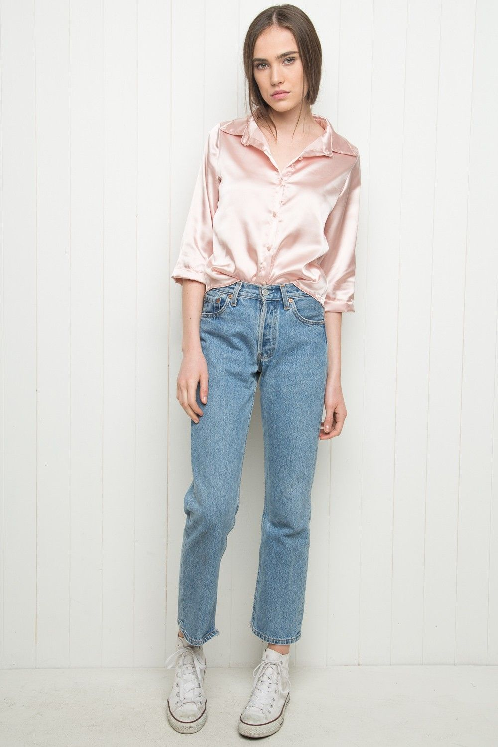 Brandy ♥ Melville | Minou Silky Shirt - Silky Pieces - Clothing