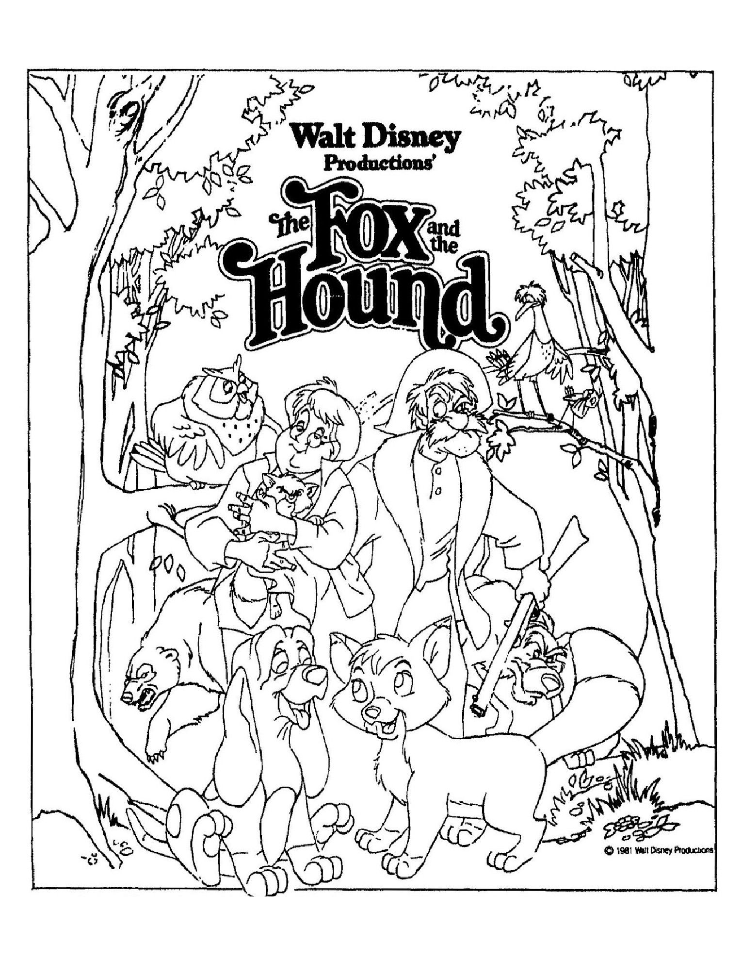The Fox and the Hound | Disney Coloring Pages: Movie Covers | Pinterest