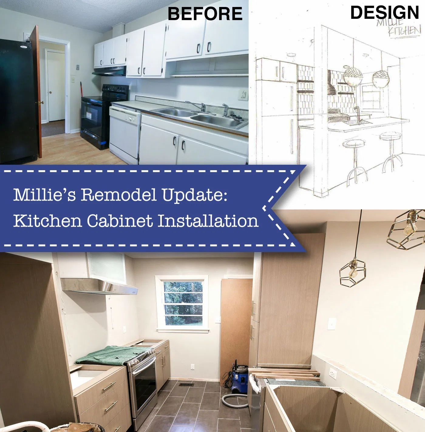 Millie S Remodel Installing The Kitchen Cabinets In 2020 Kitchen Design Plans Kitchen Cabinets Installing Kitchen Cabinets
