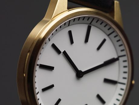 Uniform Wares 250 Series watch in satin gold. Destined to be a future classic surely.