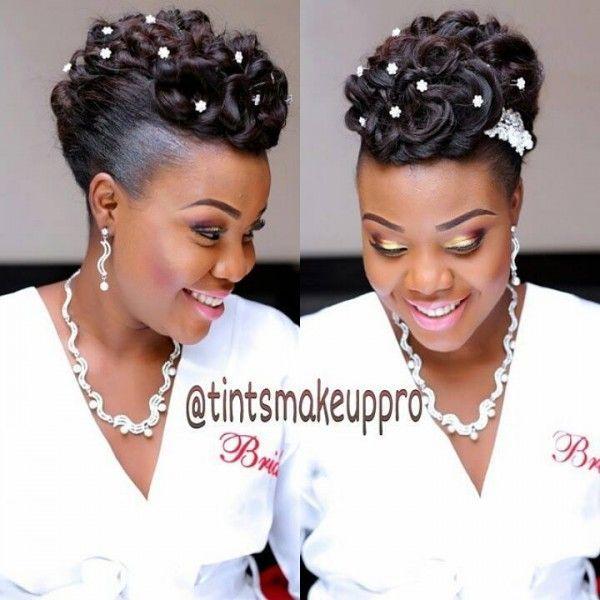 17 Showy Nigerian Bridal Hairstyles Black Bride Black Wedding Hairstyles Bridal Hair Inspiration Natural Hair Wedding