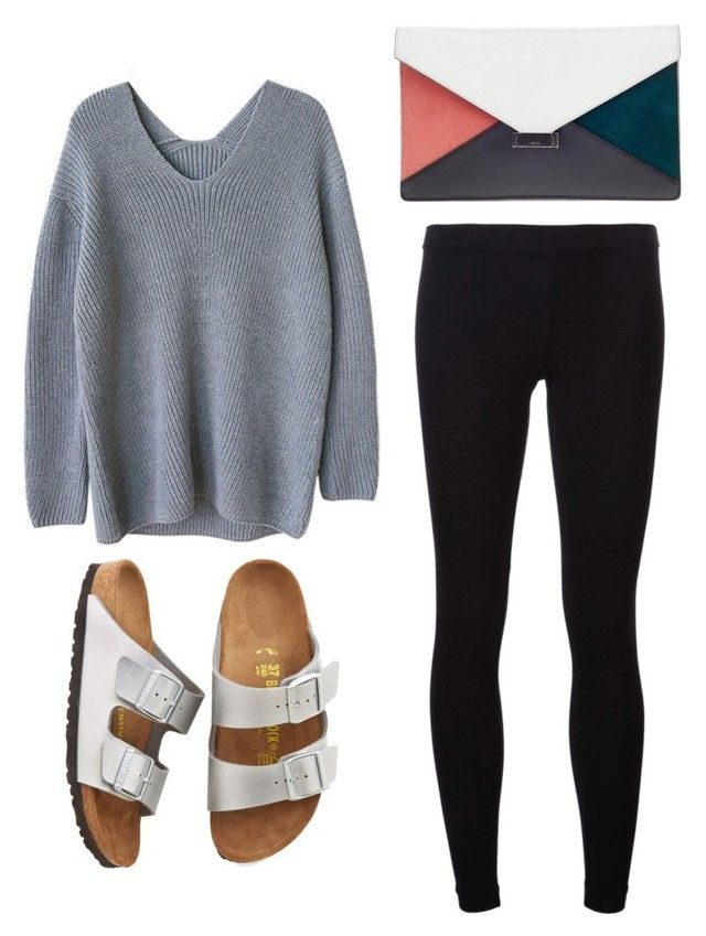 398cae111ae1 Outfit Idea by Polyvore Remix. James PerseBirkenstockSandal.