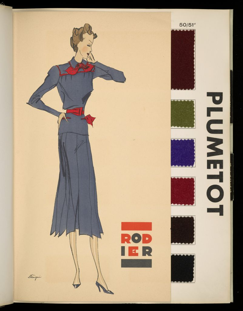 Book containing samples of fabrics designed by