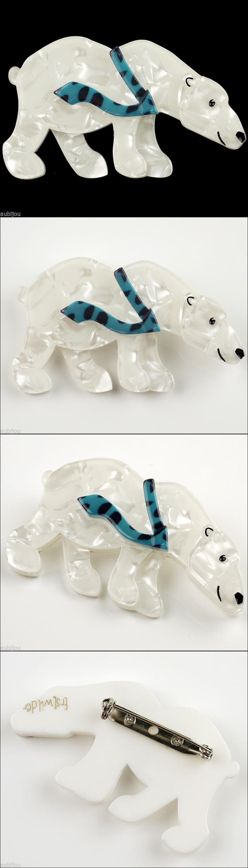 Pins and Brooches 50677: Erstwilder Pav The Polar Bear Resin Brooch Pin Nib -> BUY IT NOW ONLY: $35 on eBay!