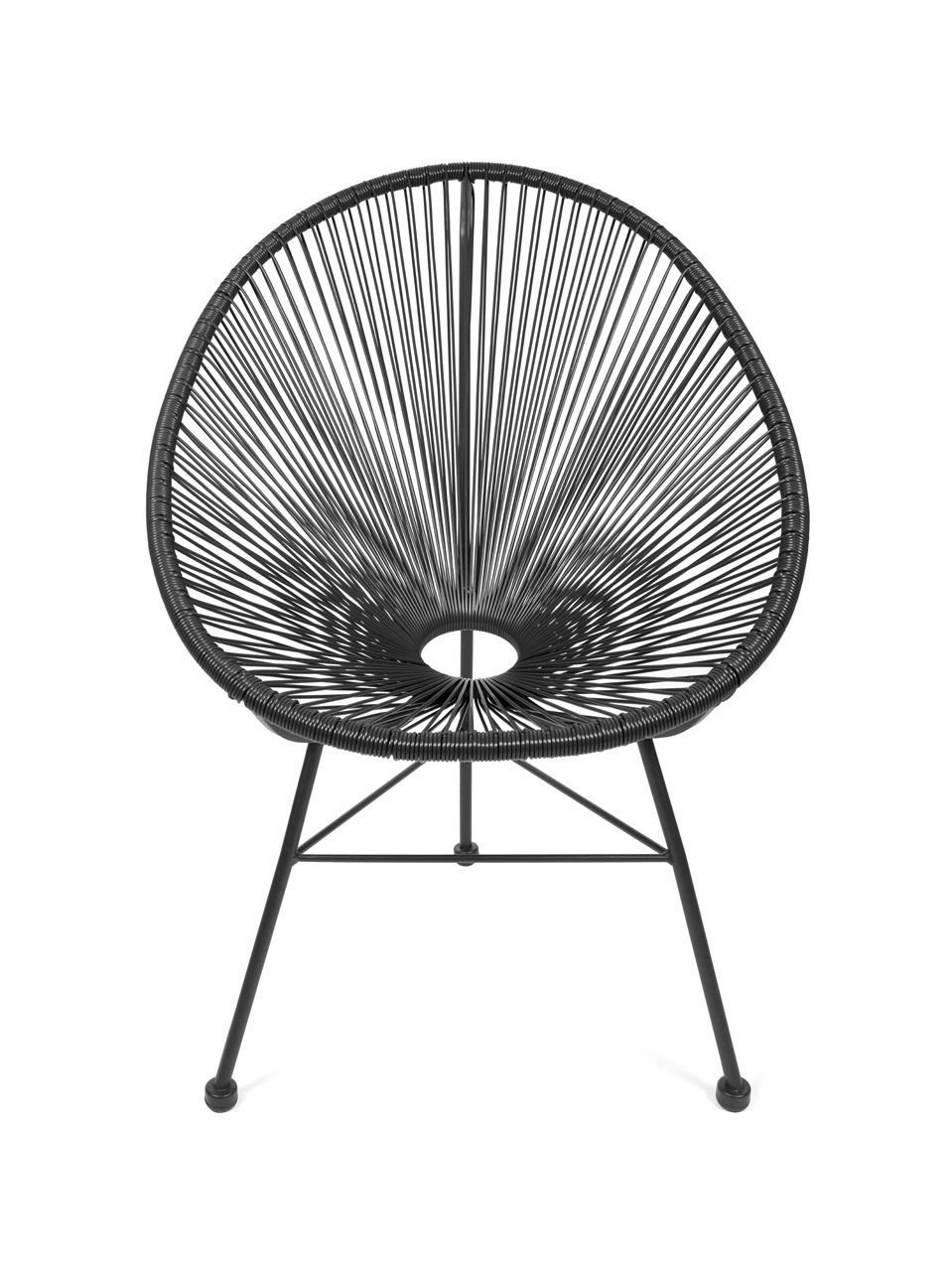Acapulco Sessel Acapulco Stuhl Chair Sessel Schwarz Design Klassiker In Möbel