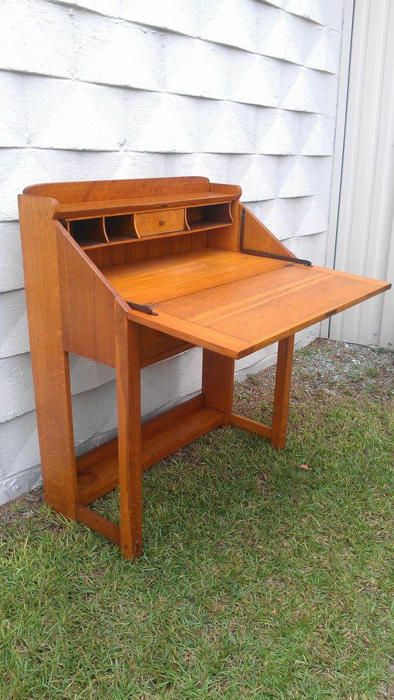 Etonnant Quarter Sawn Oak Limbert Drop Front Desk   Dutch Arts U0026 Crafts   Holland  Michigan Mark Early 1900u0027s Grand Rapids Furniture
