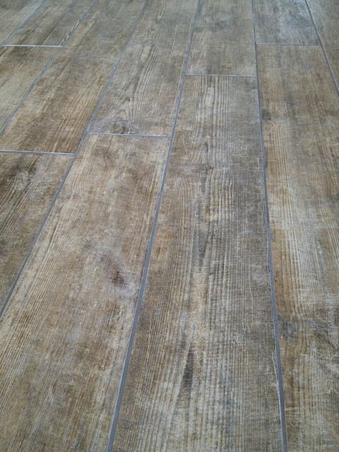 142 Not Sure About Thick Grout Lines Wood Look Tile Distressed Aged Rustic Grays Browns Wood Look Tile Rustic Country Furniture Flooring