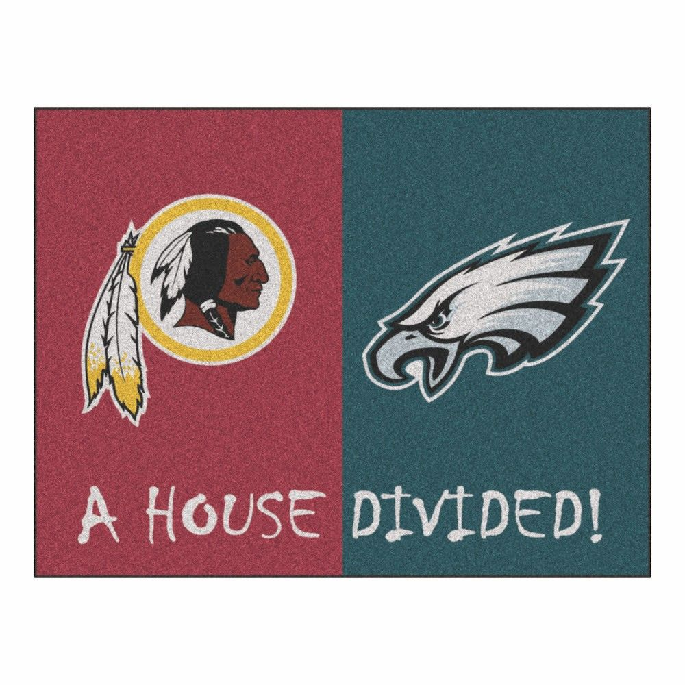 b0c9754c NFL Philadelphia Eagles/Dallas Cowboys House Divided Rug 33.75